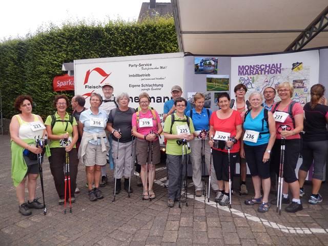 Onze Nordic-Walking afdeling leeft!! Ze waren met velen tijdens het weekend te Monchau.